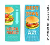 Fast Food Vertical Banners Set...