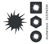 burst icon set  monochrome ...