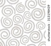 pearl necklace spiral ornament... | Shutterstock . vector #313198439