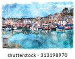 Watercolour Painting Of Padstow ...