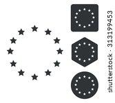 european union icon set ...