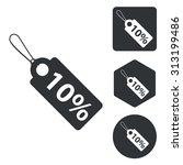 discount icon set  monochrome ...