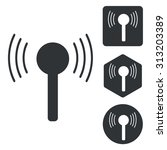 signal icon set  monochrome ...
