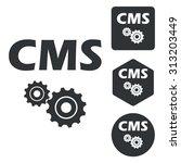 cms settings icon set ...