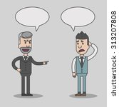 angry boss and employee cartoon ... | Shutterstock .eps vector #313207808