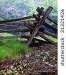 Old Rotting Split Rail Fence