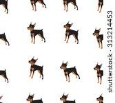dog background seamless | Shutterstock .eps vector #313214453