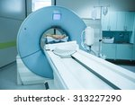 patient being scanned and... | Shutterstock . vector #313227290