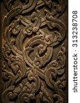 murals  wood carvings  a... | Shutterstock . vector #313238708