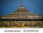 the stupa in buddhist temple in ... | Shutterstock . vector #313239320