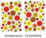 enchanting  unusual dainty ... | Shutterstock . vector #313240346