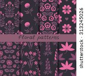 patterns set with decorative... | Shutterstock .eps vector #313245026