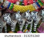 Zebra Ceramic Doll For Oblation