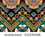 abstract geometric ethnic... | Shutterstock .eps vector #313256468
