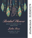 bridal shower invitation with... | Shutterstock .eps vector #313265174