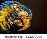 original pastel painting on... | Shutterstock . vector #313277000
