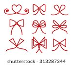 set of bows  strokes editable | Shutterstock .eps vector #313287344