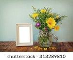summer bouquet of flowers next... | Shutterstock . vector #313289810