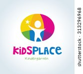 kids place vector logo template. | Shutterstock .eps vector #313296968