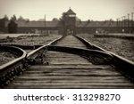 Main Gate And Railroad To Nazi...