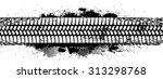 tire tracks print texture . ink ... | Shutterstock .eps vector #313298768