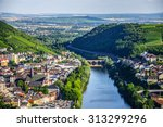Bingen am Rhein and Rhine river in Rheinland-Pfalz, Germany