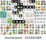 mega collection of infographic. ... | Shutterstock .eps vector #313302389
