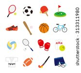 icons   sports | Shutterstock .eps vector #313311980
