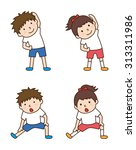 children to gymnastics | Shutterstock .eps vector #313311986