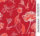 hand drawn seamless pattern of... | Shutterstock .eps vector #313322273
