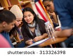 multi ethnic group of students... | Shutterstock . vector #313326398