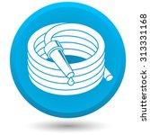 garden hose  vector icon. | Shutterstock .eps vector #313331168