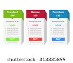 price list widget boxes with... | Shutterstock .eps vector #313335899
