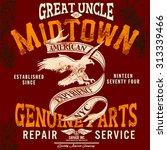 tee graphics vintage graphics... | Shutterstock .eps vector #313339466