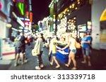shopping in seoul city street   ...   Shutterstock . vector #313339718