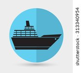 ship icon | Shutterstock .eps vector #313340954
