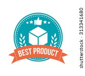 best product round banner badge | Shutterstock .eps vector #313341680