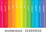 creative calendar 2016  sundays ... | Shutterstock .eps vector #313342010