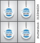 set of coupon hanging sings.... | Shutterstock .eps vector #313346024