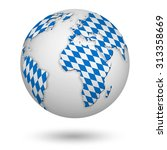 earth with bavarian flag as a...   Shutterstock . vector #313358669