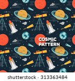 vector seamless space pattern... | Shutterstock .eps vector #313363484