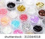 nail art accessories | Shutterstock . vector #313364018