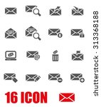 vector grey email icon set | Shutterstock .eps vector #313368188