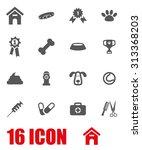vector white dog icon set | Shutterstock .eps vector #313368203