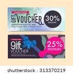 gift voucher template. | Shutterstock .eps vector #313370219
