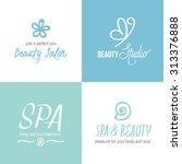 vector set of logotypes for... | Shutterstock .eps vector #313376888