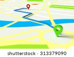navigation with gps through... | Shutterstock . vector #313379090