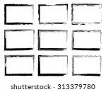 grunge frames set  black... | Shutterstock .eps vector #313379780