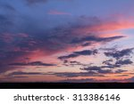 colorful sunset with clouds  | Shutterstock . vector #313386146