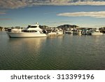 Luxurious Boats Parked In The...